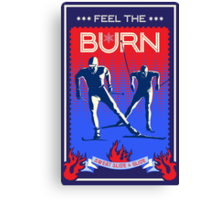 Feel the Burn cross country ski Canvas Print