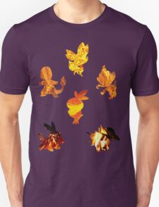 Fire Type Starters  T-Shirt