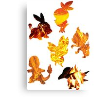 Fire Type Starters  Canvas Print