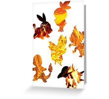 Fire Type Starters  Greeting Card