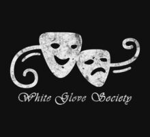 White Glove Society Logo (Grungy Version) Kids Tee