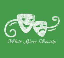 White Glove Society Logo (Grungy Version) Kids Clothes