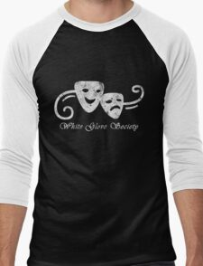White Glove Society Logo (Grungy Version) Men's Baseball ¾ T-Shirt