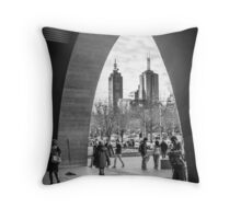 The Arch - National Gallery of Victoria, Melbourne Throw Pillow