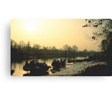 Thames Boats Canvas Print