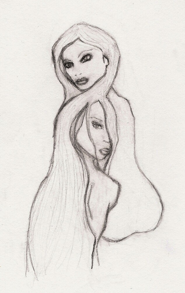 fairyfloss diaries #3: Two Girls (detail) by yasmine