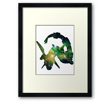 Rayquaza used Dragon Pulse Framed Print