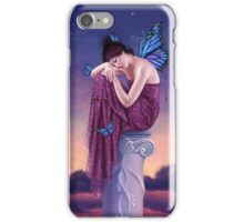 Sunset Blue Monarch Butterfly Fairy iPhone Case/Skin