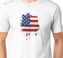 United States Flag Paint Splatter Unisex T-Shirt