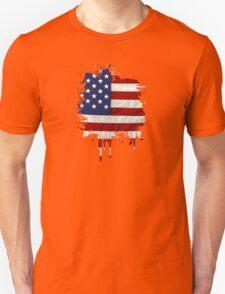 United States Flag Paint Splatter T-Shirt