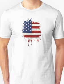 United States Flag Paint Splatter T-Shirt