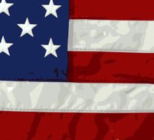 United States Flag Paint Splatter Sticker
