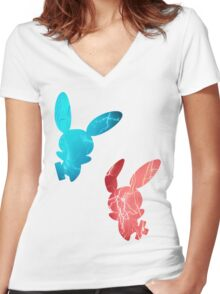 Plusle and Minun used Spark Women's Fitted V-Neck T-Shirt