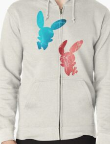Plusle and Minun used Spark Zipped Hoodie