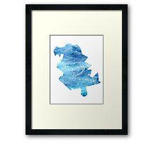 Totodile used Surf Framed Print