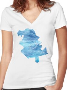 Totodile used Surf Women's Fitted V-Neck T-Shirt