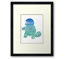 Squirtle used Bubble Framed Print