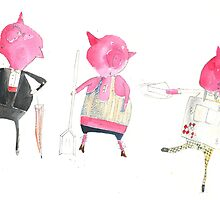 Three little pigs by C Lance