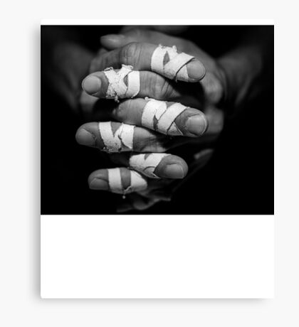 Brazilian Jiu-jittsu artwork - Finger tape Canvas Print