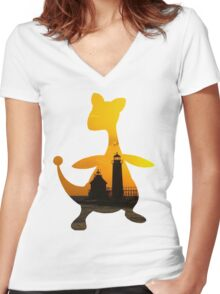 Ampharos used Flash Women's Fitted V-Neck T-Shirt