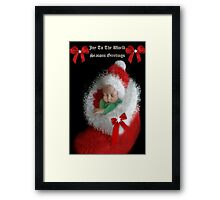 ☃ ☃ JOY TOO THE WORLD GREETING CARD VERSION TWO WITH TEXT PICTURE AND OR CARD☃ ☃ Framed Print