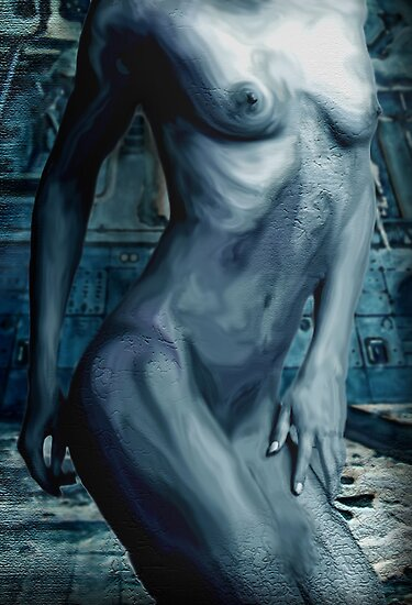 Torso in Blue by Cliff Vestergaard