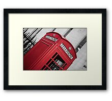 London Red Telephone Booth Framed Print