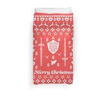 Zelda Christmas Card Jumper Pattern Duvet Cover