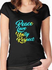PLUR - Peace Love Unity Respect Women's Fitted Scoop T-Shirt