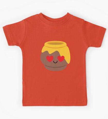 Honey Emoji Heart and Love Eye Kids Tee