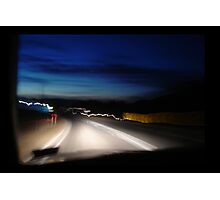 road trip to Mount Beauty by night Photographic Print