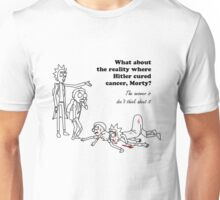 Rick and Morty kill themselves in black Unisex T-Shirt