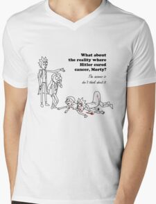 Rick and Morty kill themselves in black Mens V-Neck T-Shirt