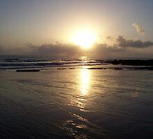 Sunrise on a Lonely Beach by John Mikkelsen