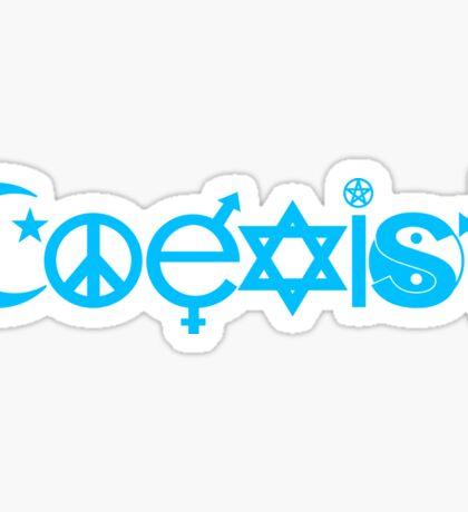 COEXIST Deep sky blue Sticker