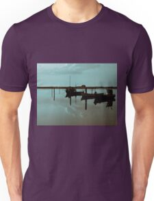 Magical reflection of a small dinghy dory boats Unisex T-Shirt