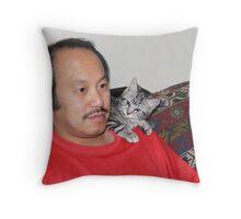 Furry Parrot? Throw Pillow