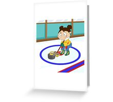 Winter Sports: Curling Greeting Card