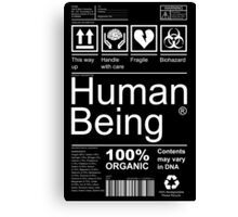 Human Being - Dark Canvas Print