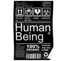 Human Being - Dark Poster