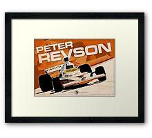 Peter Revson - F1 1973 Framed Print