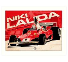 Niki Lauda - F1 1976 Art Print