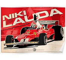 Niki Lauda - F1 1976 Poster