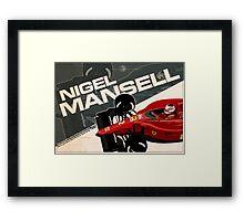 Nigel Mansell - F1 1990 Framed Print