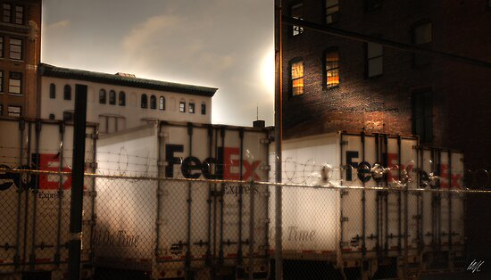 FedEx Trucks New York by Paul Vanzella