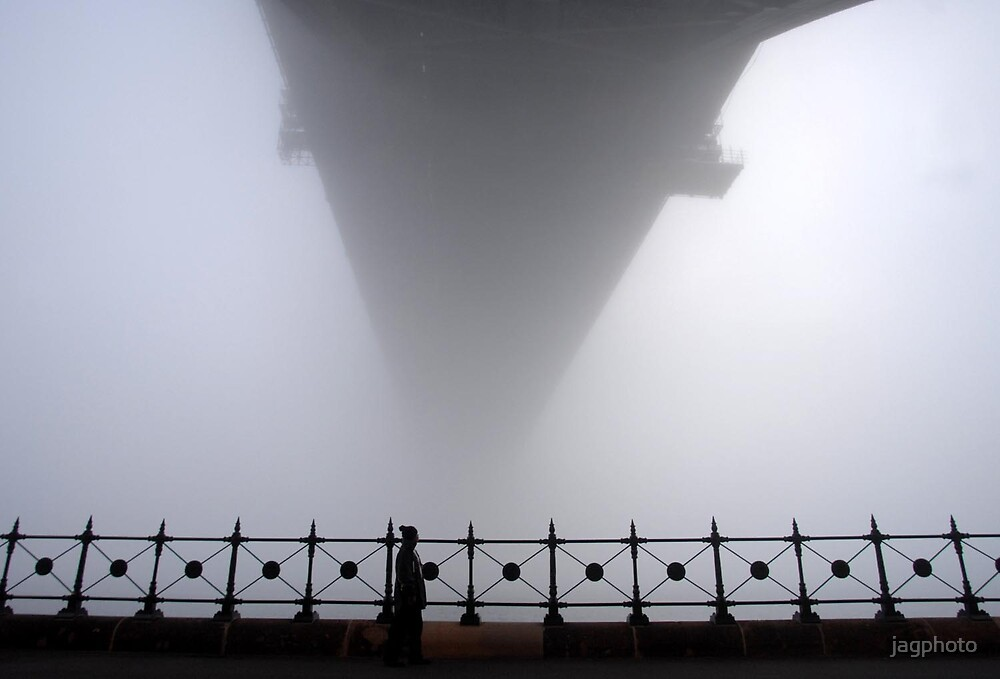 Fog under the harbour bridge  by jagphoto