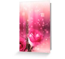 Roses in a Magic Light Greeting Card
