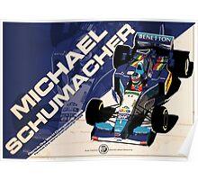 Michael Schumacher - F1 1995 Poster
