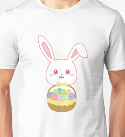 Easter Rabbit Cute Bunny Basket Full of Colorful Eggs Unisex T-Shirt