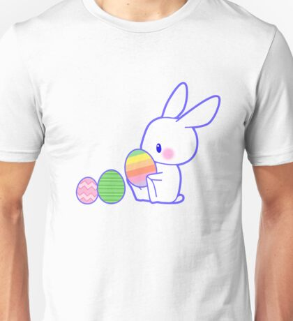 Easter Bunny Colorful Pastel Eggs Artistic Cute Gifts  Unisex T-Shirt